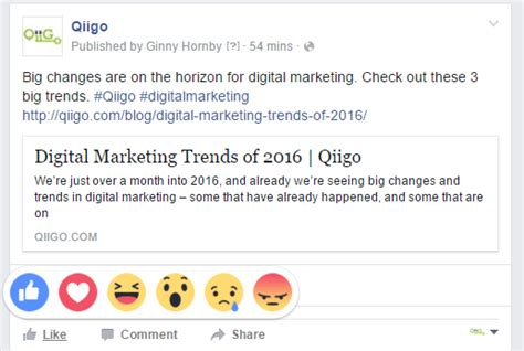 fb reaction reacting to facebook reactions qiigo