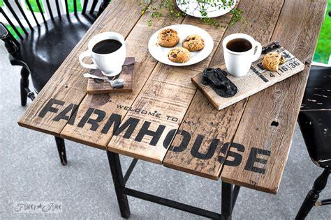 industrial farmhouse window valance sign  table sized