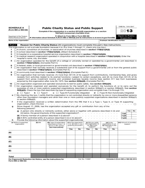 irs section 509 a 1 public charity status and public support free download
