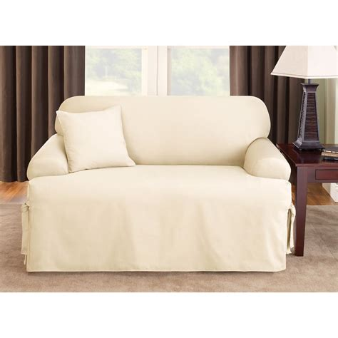 sofa covers t cushion sure fit sure fit 174 logan t cushion sofa slipcover 292833