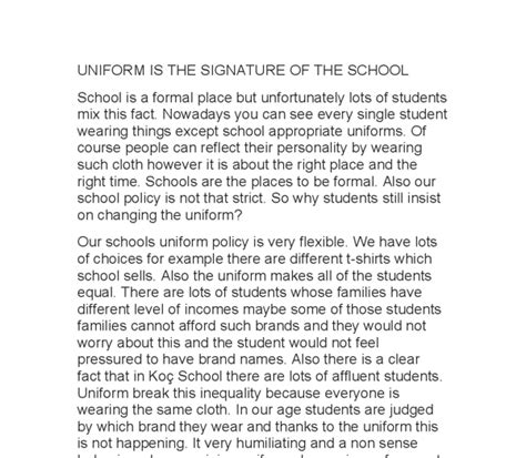 Persuasive Essay On Wearing School Uniforms by Essay About School Should Students Wear School Uniforms Essays