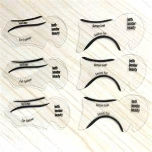 cat eye template 6pcs cat eye smokey eye makeup eyeliner models template