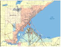 map of duluth editable duluth mn city map illustrator pdf digital