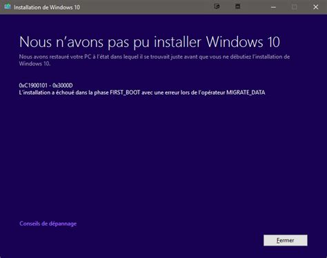 install windows 10 english windows 10 update 0xc1900101 0x3000d first boot and