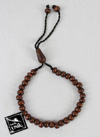 Gelang Warna Hitam gelang tali tarik tasbih warna hitam coklat gelang etnik
