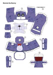 five nights at freddy s purplebonnie papercraft p1 by