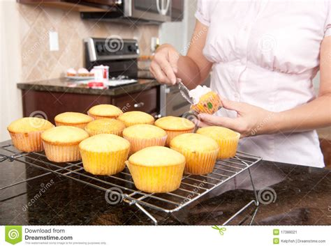baking cupcakes stock image image 17388021