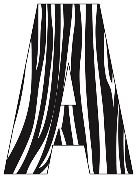 zebra pattern letters printable cut out letters