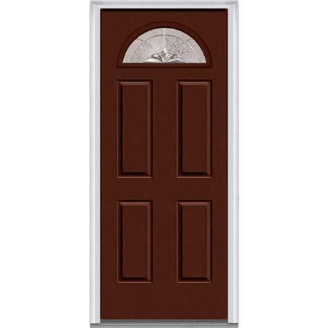 30 X 80 Exterior Door Mmi Door 30 In X 80 In Heirloom Master Left Fan Lite 4 Panel Classic Painted Steel