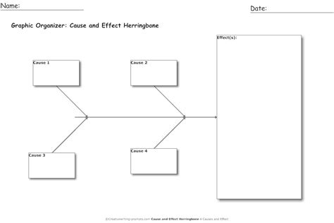 printable graphic organizer cause and effect cause and effect graphic organizer