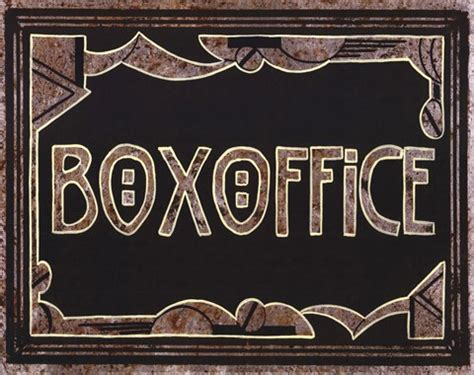 Jones Box Office by Box Office Print By Catherine Jones At