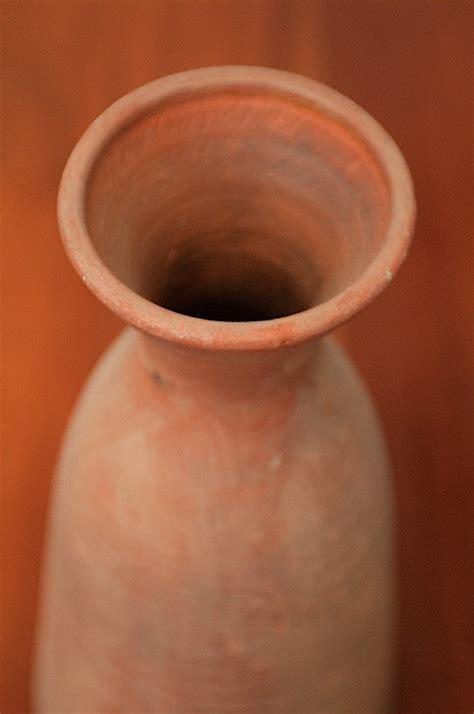 vase en terre cuite ancien travail artisanal objet d 233 co