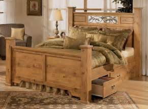 pine log bedroom furniture rustic pine bedroom furniture brown plank wood frame bed