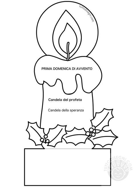 candela avvento candela prima domenica di avvento tuttodisegni
