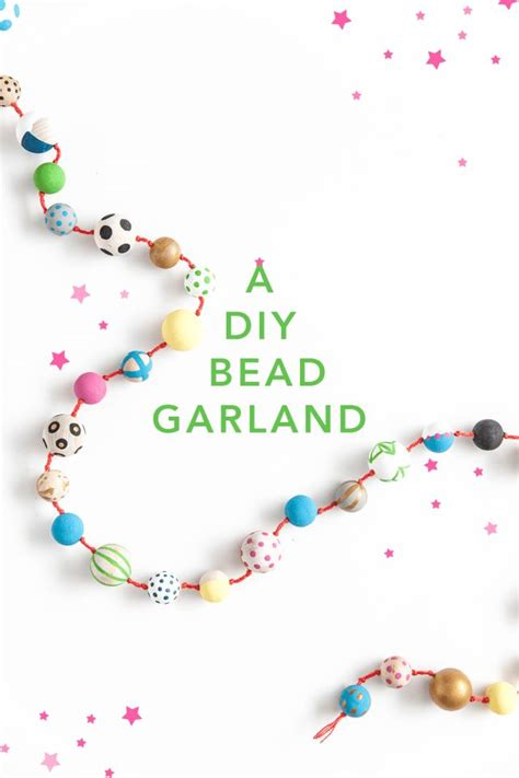 diy wood bead garland beaded garland garlands and diy wood