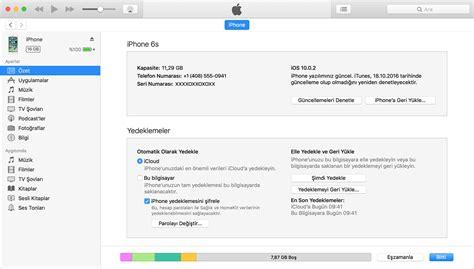 iphone ve ipod touch ınızı yedekleme apple destek