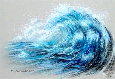 wave easy pencil and in color wave easy drawing of a wave wave simple pencil and in color