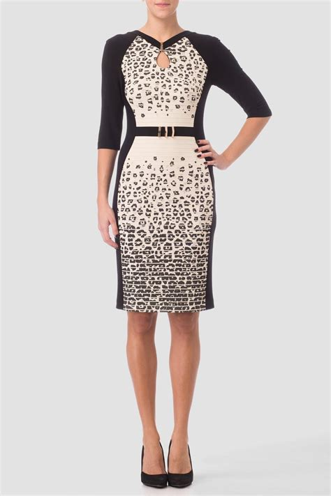 Dress Import Leopard joseph ribkoff leopard dress from canada by gaia boutique