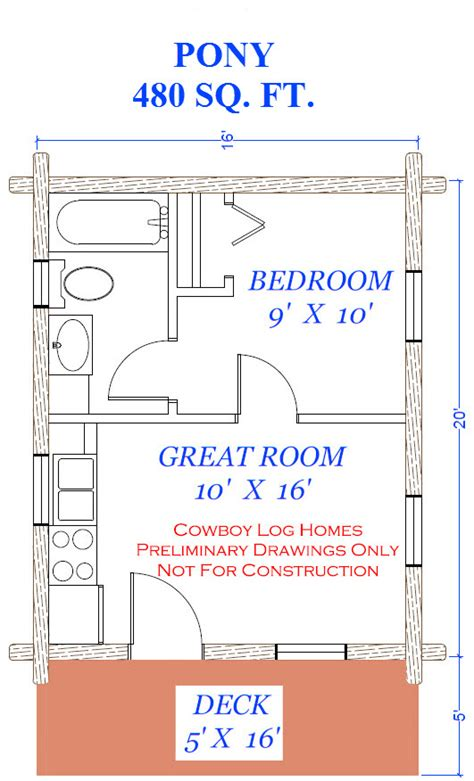 square feet measurement 480 square foot floor plan log pony plan 480 square feet cowboy log homes