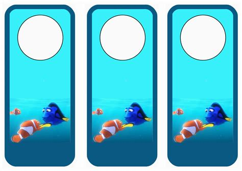 free printable hockey bookmarks finding dory door hangers birthday printable