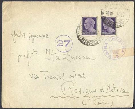 ufficio passaporti udine storia postale italiana