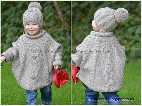 child s poncho knitting pattern temptation poncho and hat set by matsiuk craftsy