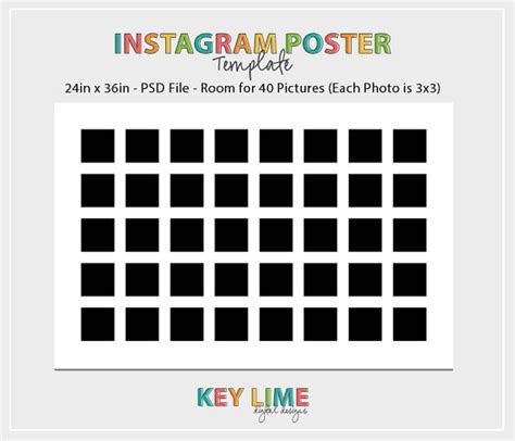 instagram templates for photoshop instagram poster template 24x36 photoshop psd