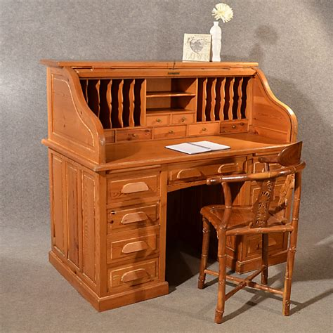 roll top desk tambour antique rolltop bureau pine roll top tambour desk large
