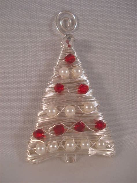 wire and bead tree ornament navidad pinterest wire trees