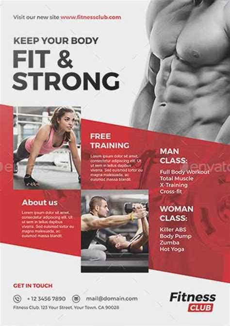 fitness flyer templates ffflyer the fitness and flyer template