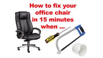 Office Chair Height Adjustment Broken How To Fix Your Office Chair In 15 Minutes When Pneumatic