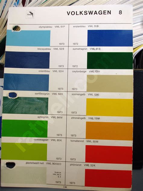 original paint colors vw thesamba paint view topic glasurit vintage