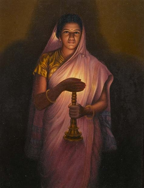 glow in the paintings india the glow of is a painting by s l haldankar the