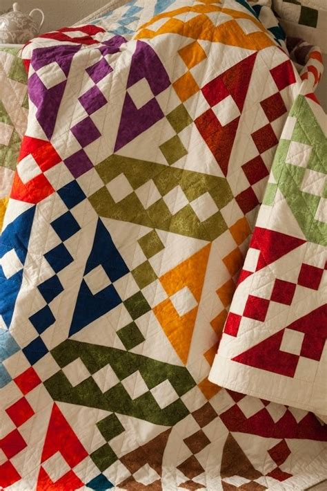 jacob pattern works jacob s ladder jewel tones on white quilts for