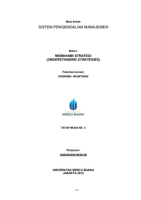 Memahami Konsep Pengendalian 1 sistem pengendalian manajemen chapter 2