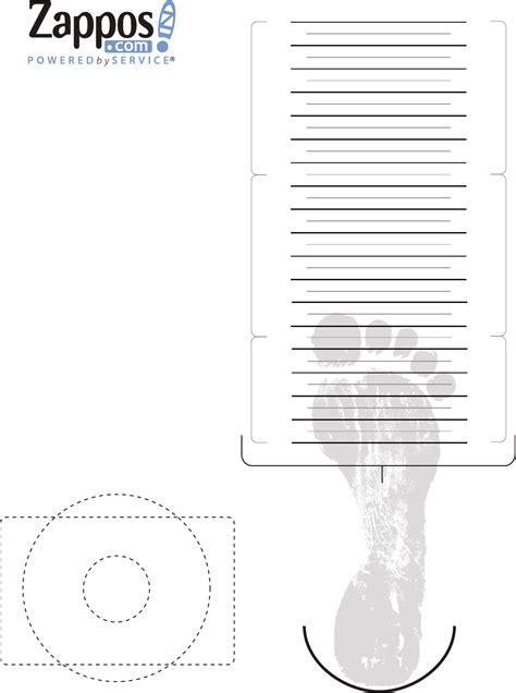 Free Kids Shoe Size Chart Pdf 479kb 1 Page S Shoe Measuring Template