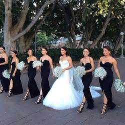 black dresses for wedding bridesmaid 25 best ideas about black bridesmaid dresses on