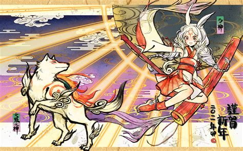 okami wallpaper zerochan anime image board