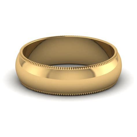 ribbed milgrain comfort fit band 6mm fascinating diamonds
