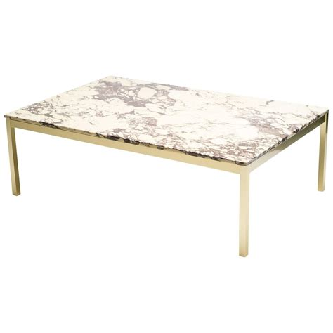 Brass And Marble Coffee Table Marble And Brass Coffee Table At 1stdibs