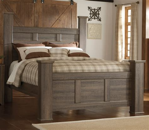 driftwood rustic modern  piece king bedroom set fairfax rc willey furniture store