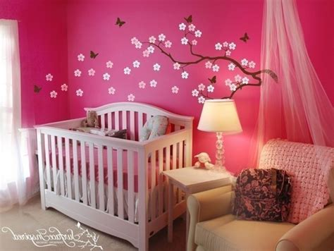 Awesome Pink Dark Brown Wood Unique Design Kids Bedroom Pink And Brown Nursery Decor