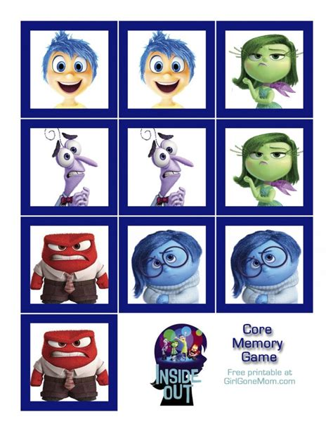 inside out coloring pages games inside out core memory game girl gone mom