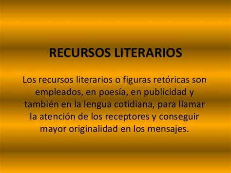 recursos literarios 1 recursos literarios 1