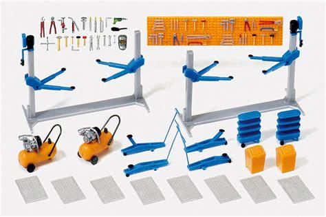 kfz werkstatt 24 preiser 17186 car workshop garage equipment oo ho