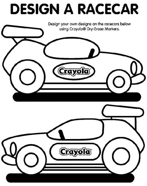 car coloring page crayola design a racecar coloring page crayola com