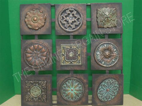 metal ornaments home decor square metal wall hanging home accent decor art floral