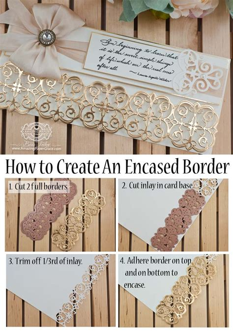 How To Make Paper Borders - how to make an encased border 187 amazing paper grace