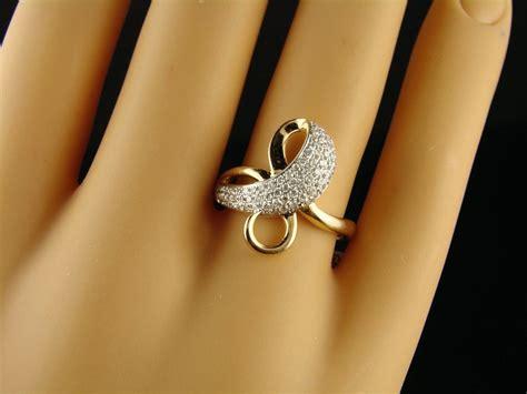 new york jewels: PRETTY LADIES/WOMENS DESIGNER DIAMOND RING 14k .51 C