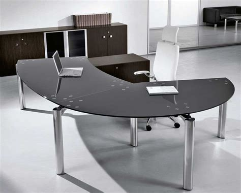 Home Office Furniture Contemporary Glass Office Desk Design And Stylish Homefurniture Org